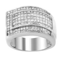 ESTATE 14K WHITE GOLD 3.50CT PAVÉ DIAMOND RING - £2,176.28 GBP