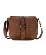 Scarleton Mini Crossbody Shoulder Bag for Women, Ultra Soft Washed (Brow... - $23.30