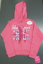 Hanes Girls' ComfortSoft Always Be True Full-Zip Hoodie Sweatshirt Pink ... - $9.89
