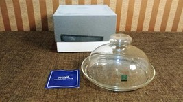 Elegant Vintage HOYA Crystal Tokyo Clear Covered Cheese Dish w/ Original Box - $44.99