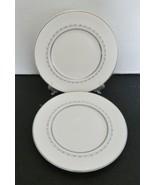 Royal Doulton Bone China Tiara Pattern Two Salad Luncheon Plates Blue Gray Vine  - $16.71