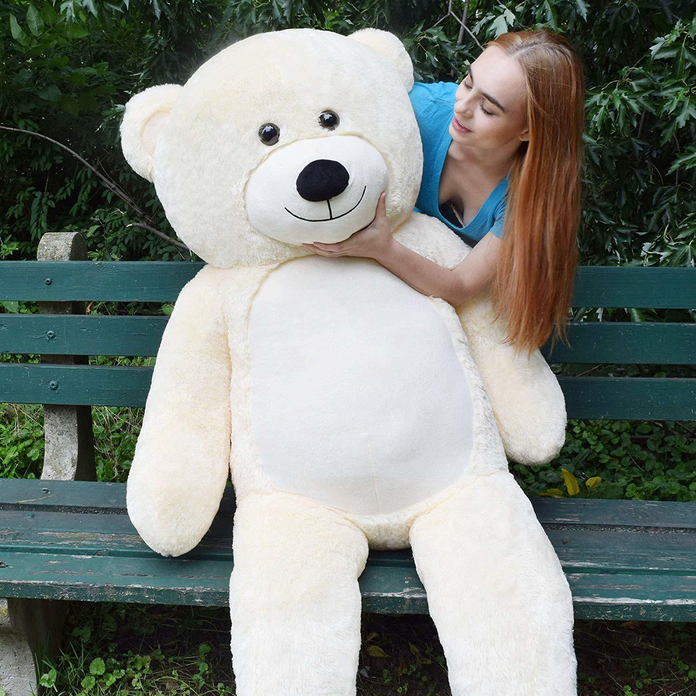 "WOWMAX Ivory Teddy Bear 72"" Large Giant Huge Stuffed Animal Plush Toy Gift Bear"