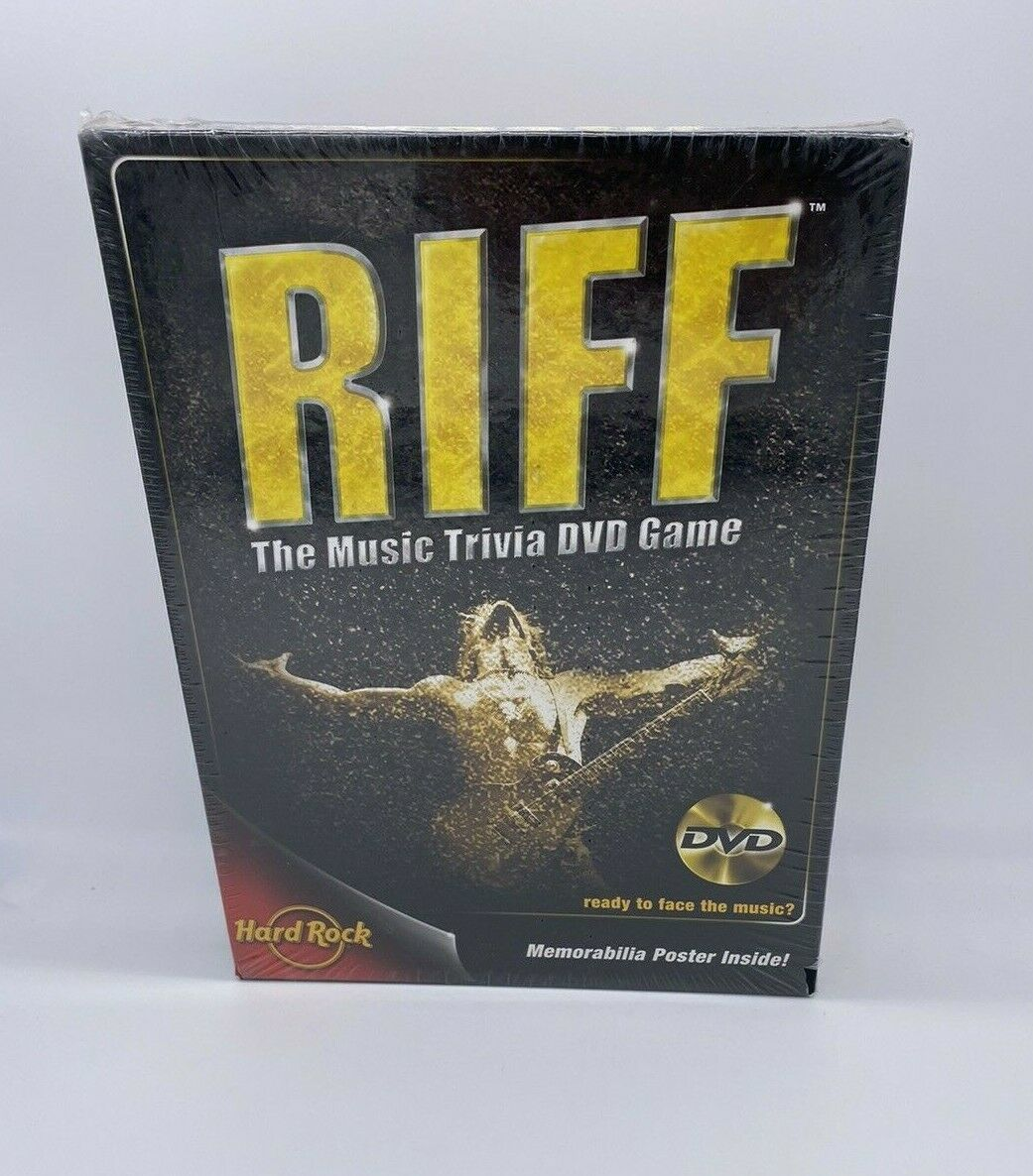 RIFF THE MUSIC TRIVIA DVD GAME 2005 HERSCH & COMPANY NEW/SEALED - $19.79