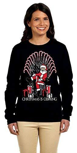 Primary image for 12.99 Prime Tees Womens Christmas is Coming Ugly Christmas Sweater Medium Black