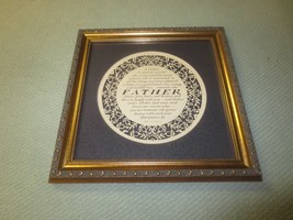 "FRAMED Cindy Jacobs Ltd. FATHER Calligraphy WALL HANGING - 12 1/4"" x 12"" - $14.85"