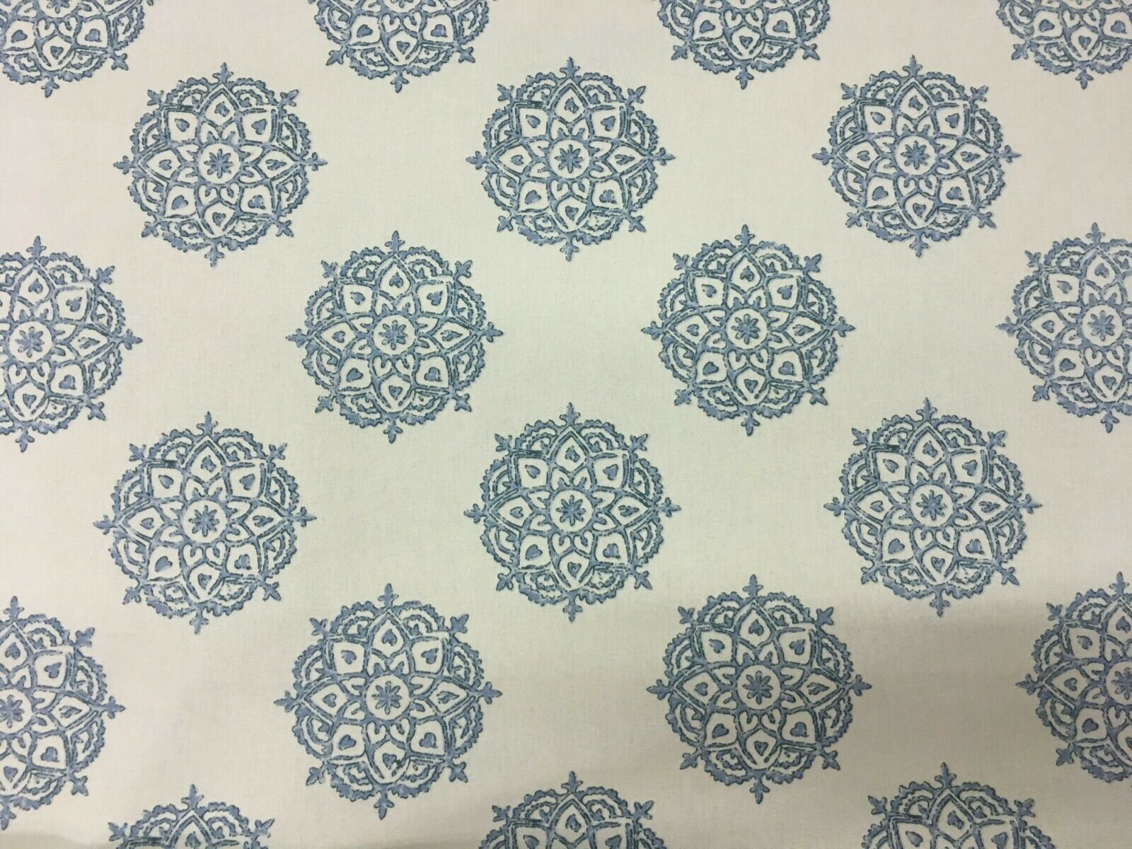 Laura & Kiran Tantra Handprint Blue 100% Cotton Multi-Purpose Fabric 4.125 yds