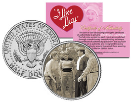 I LOVE LUCY Golf Game * LUCILLE BALL * JFK Kennedy Half Dollar Colorized... - $8.56