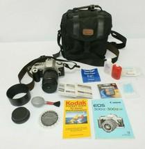 Canon EOS 500N 35mm Film SLR Camera Bundle w/ Case, Manual, Accessories - $64.99