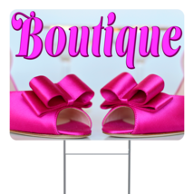 """Boutique  24"""" x 18"""" Double Sided Road Yard Sign: Heavy Duty Stake - $35.00"""