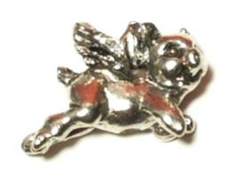 Flying Pig Fine Pewter Bead - 16mm L x 11mm W x 6mm D image 2