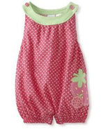 Baby Togs Baby Girls Infant Pink Strawberry Romper   - $20.00