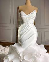 New Arrival robe de mariée Mermaid Wedding dresses Sweetheart Organza Ruffles Sk image 3