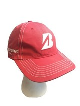 Bridgestone Golf B330  Strap Back Golf Hat Red Black Adjustable - $7.92