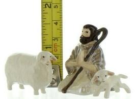 Hagen Renaker Specialty Nativity Shepherd Lamb & Sheep Ceramic Figurine Set image 2