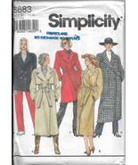 Simplicity 8683 Women Lined Coat Three Length Belt Double Breasted Ragla... - $12.00