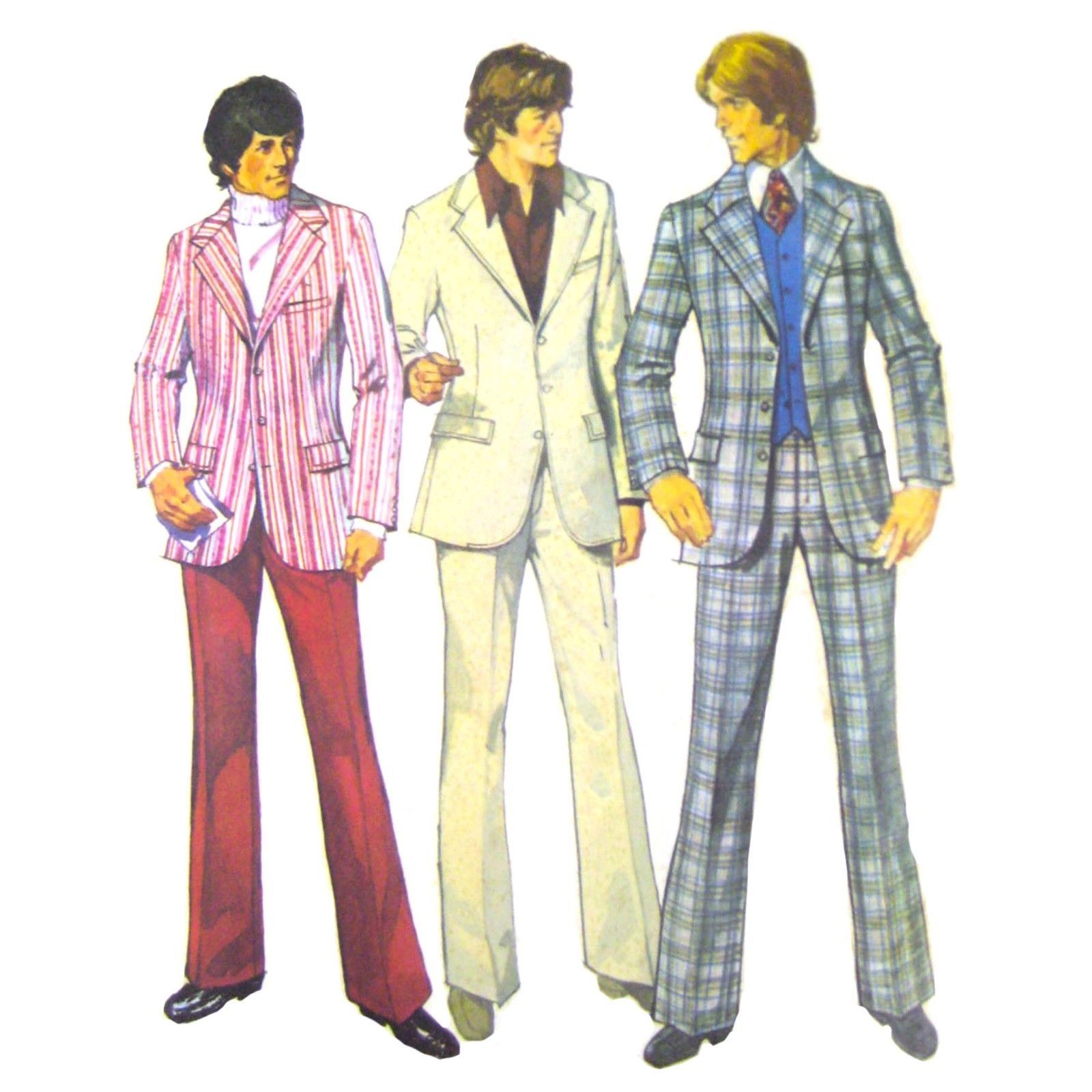 32207532635bb Vtg 70s Simplicity 5457 Mens Lined 3 Button and 39 similar items. 57