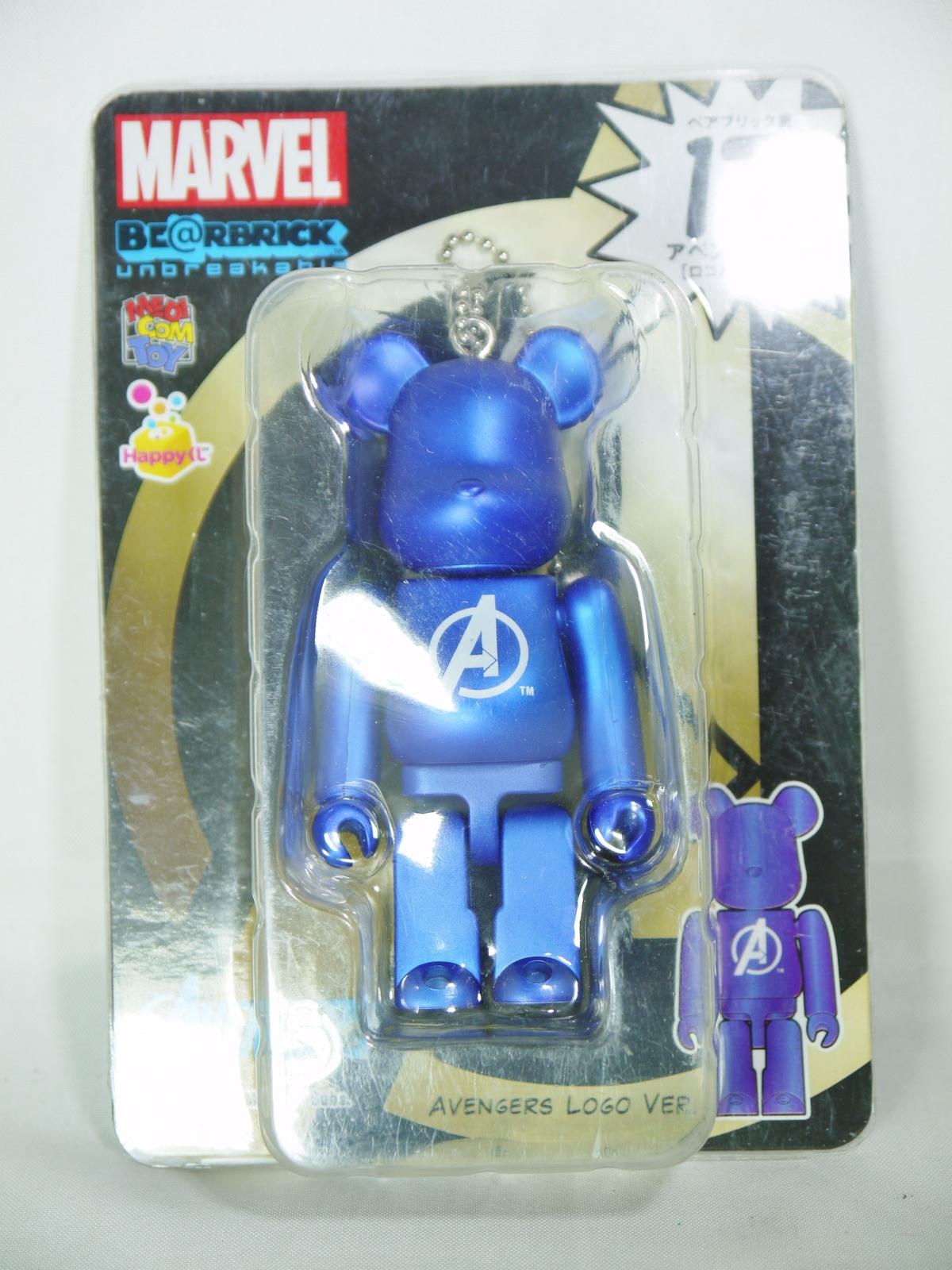 Bearbrick marvel avengers logo blue  1