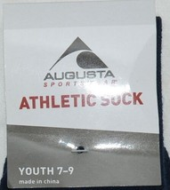 Augusta Sportswear Style 6027 Athletic Sock Youth 7 To 9 Navy Blue image 2