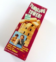 Vintage Tumbling Tower Wood Block Game by Cardinal, Ages 5 and Up - $7.91