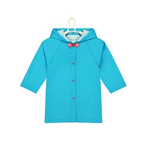 Bowknot Toddler Rain Wear Cute Baby Rain Jacket Infant Raincoat BLUE S