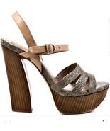 Vince Camuto Miner Womens Natural Multi Leather Platform Sandals size 9.... - $69.29