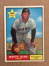 1961 Topps #327 Matty Alou ROOKIE Baseball Card NM San Francisco Giants ... - $19.99