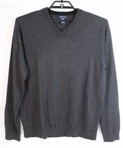 Gap Merino wool men's sweater v neck long sleeve gray Hong Kong size XL - $21.67