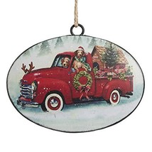 "RAZ Imports 6"" Metal Truck with Dog Ornament - $12.22"