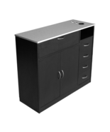 Black Styling Station Stainless Steel Spa Salon Equipment Cabinet Profes... - $459.97
