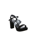 New Stuart Weitzman Black Suede Post Up Heel Sandals Sz 39 US 9 - $174.59