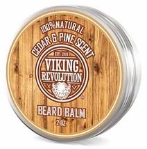 Beard Balm Cedar & Pine Scent w/Argan & Jojoba Oils - Styles, Strengthens & Soft
