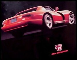 1992 Dodge Viper RT/10 Brochure Sheet, 400HP - $4.74