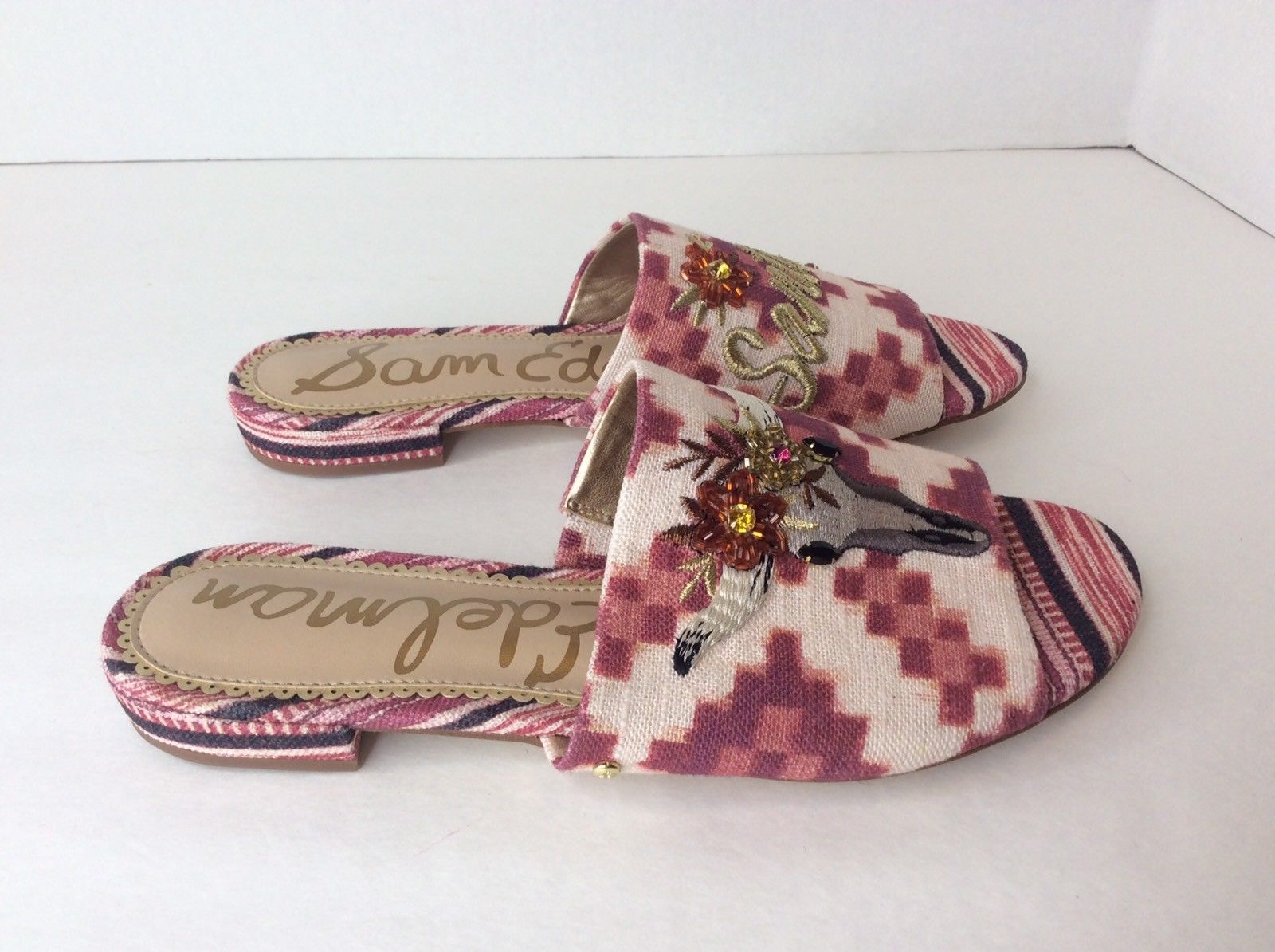 cd42a9e8d32f2e Sam Edelman Maroon Red Bling Open Toe Mule and 37 similar items
