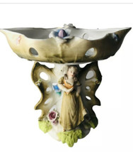 WALES Japan Compote Porcelain Figurine Swivel Top Vintage Butterfly Flor... - $42.08