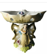 WALES Japan Compote Porcelain Figurine Swivel Top Vintage Butterfly Flor... - $42.08