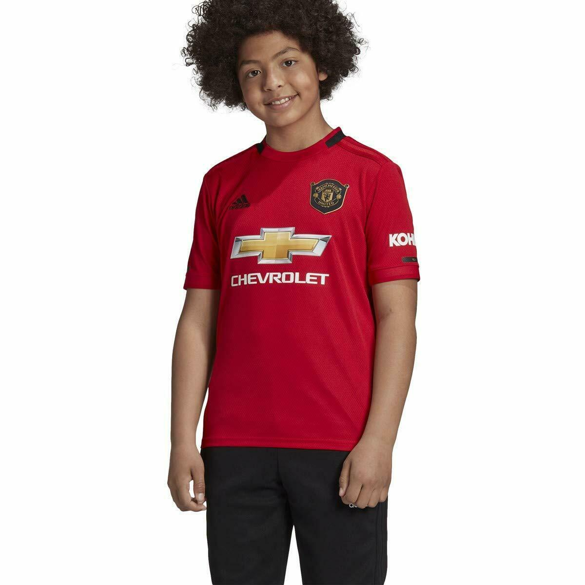 adidas Youth Soccer Manchester United Home Jersey Youth Small Red/Black - $44.50