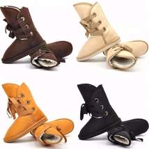 Lace up Mid calf  Woolen Snow Boots - $26.00