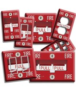 FIRE ALARM PULL DOWN LIGHT SWITCH OUTLET WALL PLATE COVER MAN CAVE ROOM NY DECOR - $8.99 - $10.79
