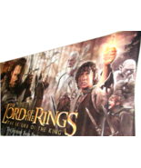 2003 LOTR: RETURN OF THE KING Original Vinyl Movie Theater Banner 118x60... - $229.99