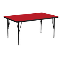 Offex Red HP Laminate Activity Table with Height Adjustable Short Legs - $147.58