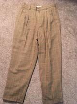 Vintage 1980's Women's Pendleton Brown Plaid Wool Lined Pants,  Sz 10P - $34.99