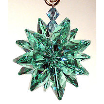 Small Colored Crystal Suncluster Ornament image 5