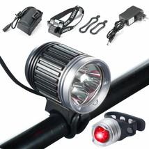 Bike Lamp Set 5000Lumens 4Modes Rechargeable Waterproof w/Taillight Batt... - $34.64