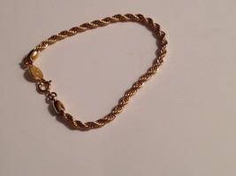 Napier Bracelet Gold Twisted Spiral Strand Signed - $22.72
