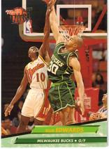 1992-93 Fleer Ultra NBA Basketball Trading Card Blue Edwards 298 Milwaukee Bucks - $1.97