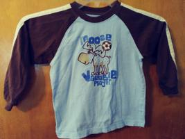 "Carter's Boys 4TBrown/Blue  Long Sleeve Shirt -""Moose Valuable Player""  EUC - $4.54"