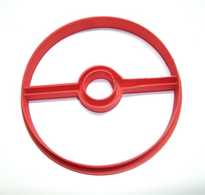 Pokemon Pokeball Poke Ball Anime Cartoon Cookie Cutter 3D Printed USA PR548 - $2.99