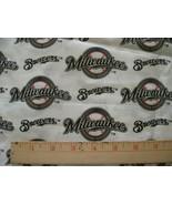 "MILWAUKEE BREWERS MLB COTTON FABRIC 1/4 YARD X 57"" for Mask FREE SHIP 9""... - $24.99"