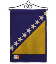 Bosnia-Herzegovina Burlap - Impressions Decorative Metal Wall Hanger Gar... - $33.97