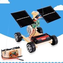 Educational Assembly RC Toys DIY Mini Solar Wooden Car Remote Control Mo... - $248,39 MXN